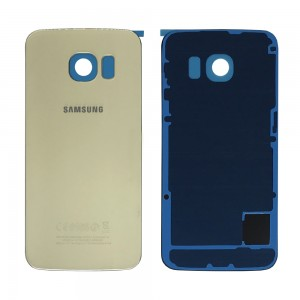Samsung Galaxy S6 Edge G925 - Battery Cover Gold With Adhesive