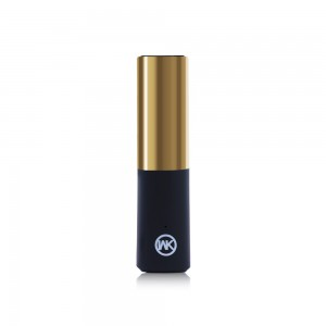 Power Bank Lipstick Style - 2400mAh Gold