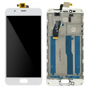 Meizu M5S - Full Front LCD Digitizer With Frame White
