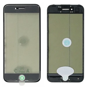 iPhone 7 - Front Glass with Frame & OCA / Polarizer Black