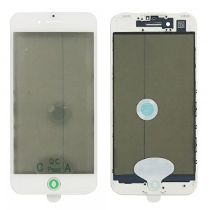 iPhone 7 - Front Glass with Frame & OCA / Polarizer White