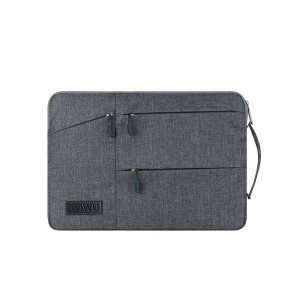 WiWU - Pocket Sleeve with Multi-Pockets for 15.6 inch Grey