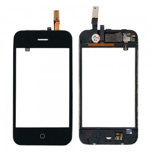 iPhone 3GS - Front Glass Digitizer With Frame Black