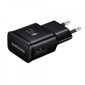 Samsung - OEM Travel Adapter Support Adaptive Fast Charging EU PLUG Black EP-TA20EBE