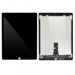 iPad Pro 12.9 2nd Gen - Full Front LCD Digitizer with Plate Black