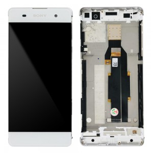 Sony Xperia XA F3111 F3113 F3115 / XA Dual F3112 F3116 - Full Front LCD Digitizer with Frame  White