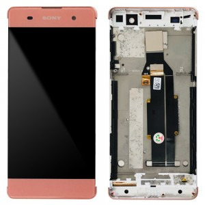 Sony Xperia XA F3111 F3113 F3115 / XA Dual F3112 F3116 - Full Front LCD Digitizer with Frame Rose Gold