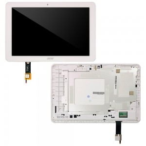 Acer Iconia Tab A3-A20 - Full Front LCD Digitizer With Frame White