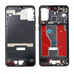 Huawei P20 Pro - OEM LCD / Middle Frame with Power & Volume Flex Cable Black