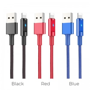 HOCO - Lightning Charging / Data Cable with Smart Power OFF U47 120cm Red