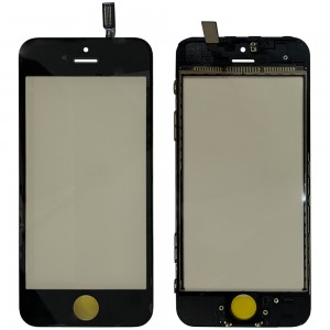 iPhone 5S - Front Glass Digitizer G+F with Frame Black