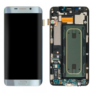 Samsung Galaxy S6 Edge Plus G928F - Full Front LCD Digitizer With Frame Silver