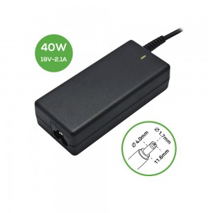 Laptop Charger - AC Adapter Power Supply 19V-2.1A-4.0*1.7 40W