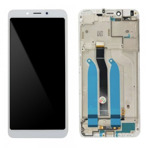 Xiaomi Redmi 6 / 6A - Full Front LCD Digitizer with Frame White