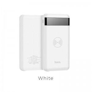 HOCO - Power Bank J11 10000mAh with Wireless Output & LED Display White