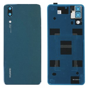 Huawei P20 - OEM Battery Cover Blue with Camera Lens & Adhesive