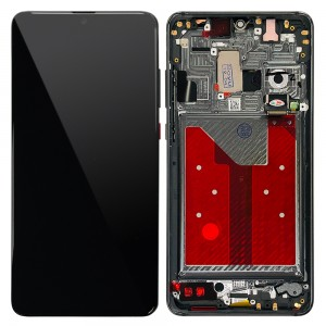 Huawei Mate 20 - Full Front LCD Digitizer With Frame Black