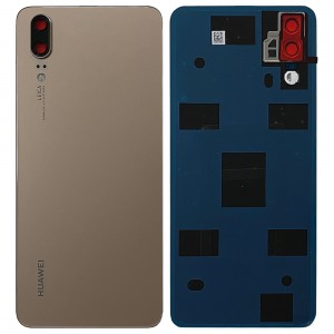 Huawei P20 - OEM Battery Cover Gold with Camera Lens & Adhesive
