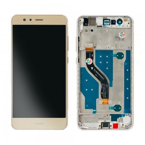 Huawei Ascend P10 Lite - Full Front LCD Digitizer Gold With Frame (FHD-W-C)