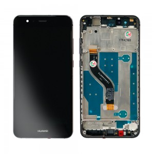Huawei Ascend P10 Lite - Full Front LCD Digitizer Black With Frame (FHD-W-T)