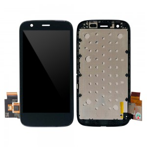 Motorola Moto G XT1032 XT1033 XT1039 - Full Front LCD Digitizer With Frame Black