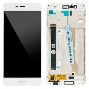 Asus Zenfone 3 Max ZC520TL - Full Front LCD Digitizer with Frame White