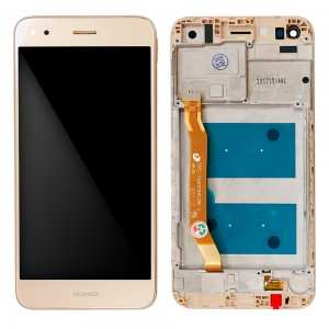 Huawei Ascend P9 Lite mini / Y6 Pro 2017 - Full Front LCD Digitizer with Frame Gold