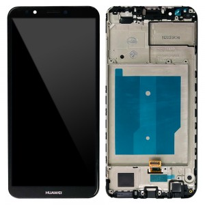 Huawei Y7 Prime (2018) / Nova 2 Lite - Full Front LCD Digitizer with Frame Black