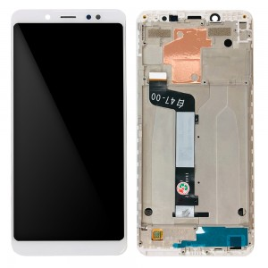 Xiaomi Redmi Note 5 - Full Front LCD Digitizer with Frame White