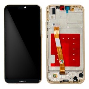 Huawei P20 Lite - Full Front LCD Digitizer with Frame Gold