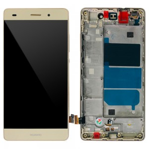 Huawei Ascend P8 Lite - Full Front LCD Digitizer with Frame Gold
