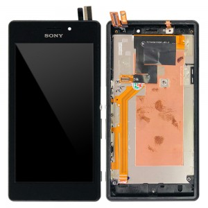 Sony Xperia M2 Aqua D2403 - Full Front LCD Digitizer with Frame Black
