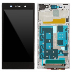 Sony Xperia Z1 L39H - Full Front LCD Digitizer OEM With LCD Frame White