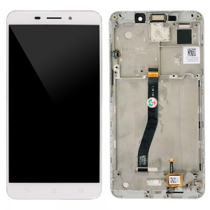 Asus Zenfone 3 Laser ZC551KL - Full Front LCD Digitizer with Frame White
