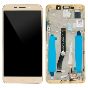 Asus Zenfone 3 Laser ZC551KL - Full Front LCD Digitizer with Frame Gold