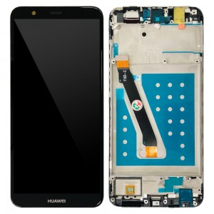 Huawei P Smart / Enjoy 7S - Full Front LCD Digitizer with Frame Black
