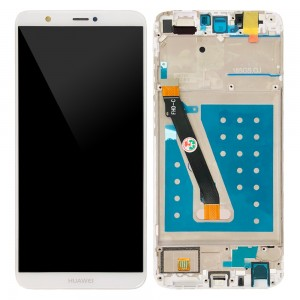 Huawei P Smart / Enjoy 7S - Full Front LCD Digitizer with Frame White