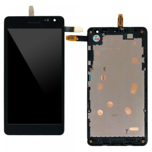 Microsoft Lumia 535 2C - Full Front LCD Digitizer With Frame Black