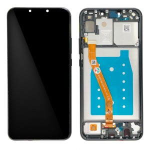 Huawei P Smart Plus - Full Front LCD Digitizer with Frame Black