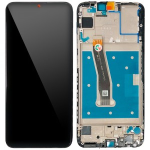Huawei P Smart Plus 2019 - Full Front LCD Digitizer with Frame Black