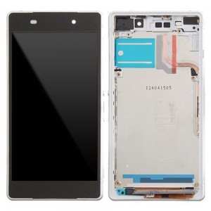 Sony Xperia Z2  D6503/D6502 - Full Front LCD Digitizer OEM With Frame White