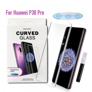 Huawei P30 Pro - NanoScale Liquid Full Glue 5D Tempered Glass With Install Kit & UV Light