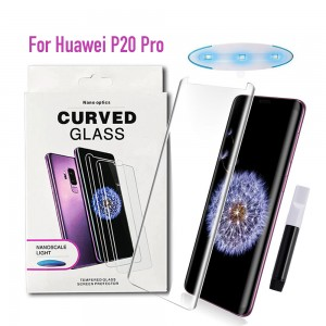 Huawei P20 Pro - NanoScale Liquid Full Glue 5D Tempered Glass With Install Kit & UV Light