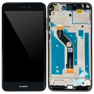 Huawei Ascend P8 Lite 2017 - Full Front LCD Digitizer with Frame Black