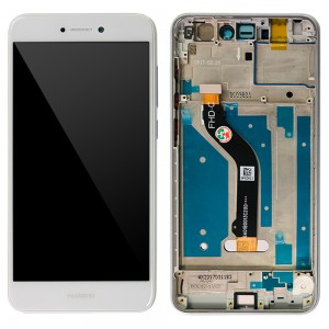 Huawei Ascend P8 Lite 2017 - Full Front LCD Digitizer with Frame White