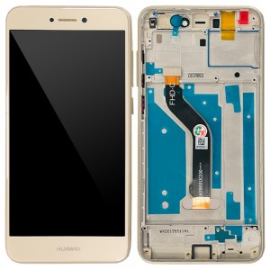 Huawei Ascend P8 Lite 2017 - Full Front LCD Digitizer with Frame Gold
