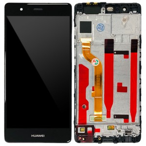 Huawei Ascend P9 - Full Front LCD Digitizer with Frame Black