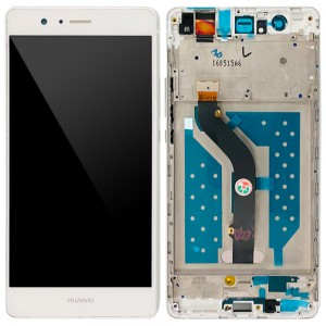 Huawei Ascend P9 Lite - Full Front LCD Digitizer with Frame White