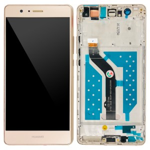 Huawei Ascend P9 Lite - Full Front LCD Digitizer with Frame Gold