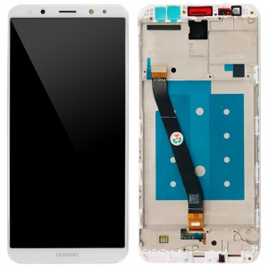 Huawei Ascend Mate 10 Lite / G10 - Full Front LCD Digitizer with Frame White